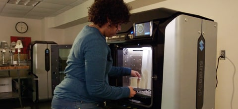 Students gain high-demand skills with 3D printing at Dunwoody College of Technology.